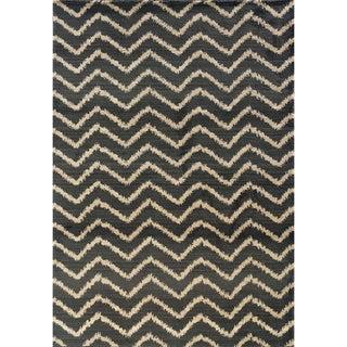 Old World Tribal Grey/ Ivory Area Rug (6'7 x 9'1)