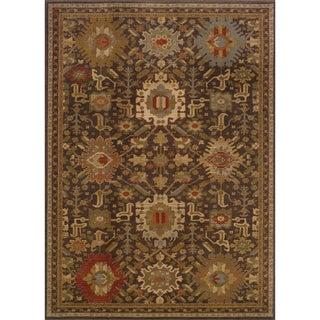 Tribal Brown/ Multi Rug (3'10 x 5'5)