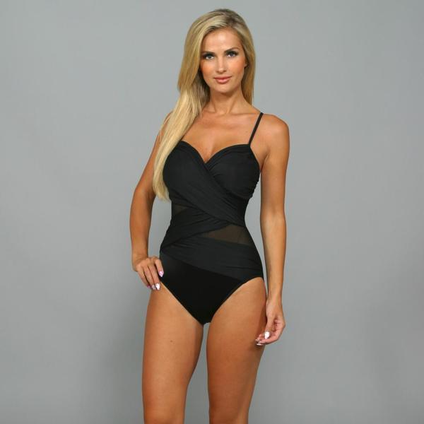 Miraclesuit Women's 'Mystify' Black 1-Piece Slimming Swimsuit