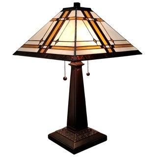 Amora Lighting Tiffany Style Mission Table Lamp