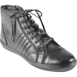 Men's Boston Traveler High Top Lace-up Sneakers Black