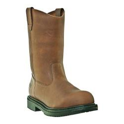 Men's McRae Industrial 10in Safety Toe Oil Field Wellington MR85323 Brown Tumbled Leather