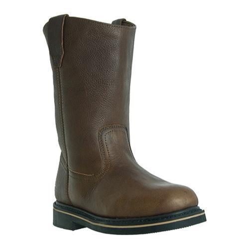 Men's McRae Industrial 10in Wellington Steel Toe MR85322 Peanut Brown Tumbled Leather