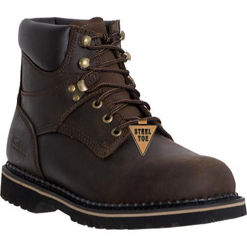 Men's McRae Industrial 6in Safety Toe Lacer MR86344 Dark Brown