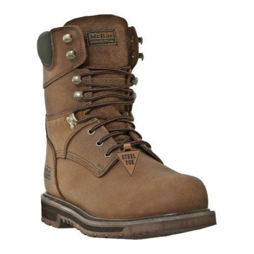 Men's McRae Industrial 8in Steel Toe Lace Up MR88372 Tan Leather