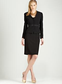 Tahari Black skirt suit
