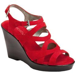 Women&#39;s Aerosoles Coral Reef Red Fabric Suede
