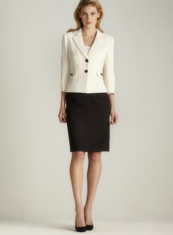 Tahari Textured Skirt Suit