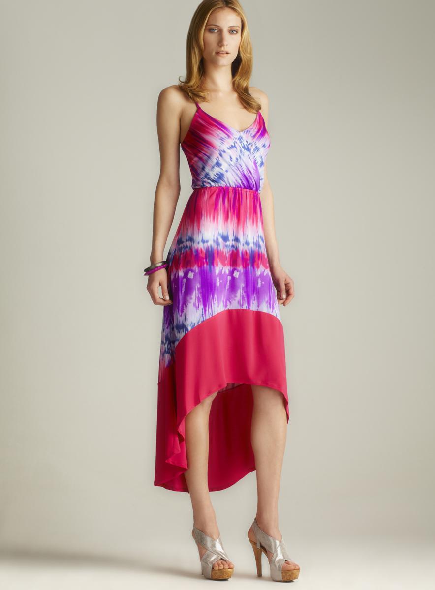 Paper Doll Hi-lo Tie Dye Dress