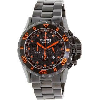 Precimax Men's 'Carbon Pro' Black/ Orange Watch