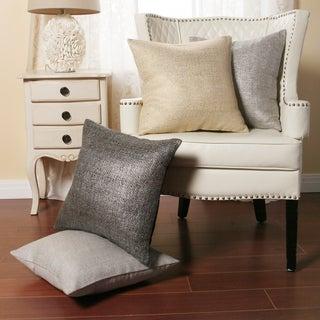 Metallic Weave 18-inch Decorative Pillows (Set of 2)