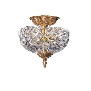 Richmond 2-Light Olde Brass Flush Mount