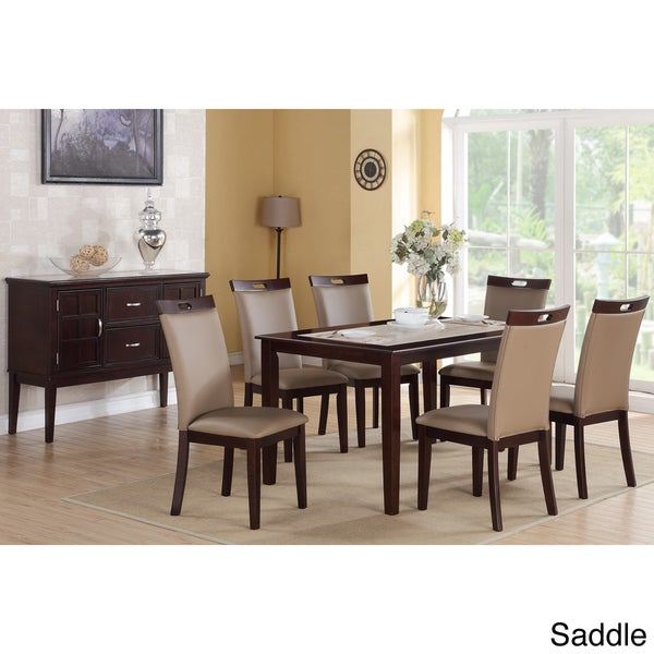 Rosi Bicast Leather Dining Chairs Set Of 6 Overstock Shopping Great Dea