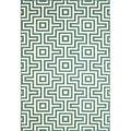 Indoor/Outdoor Blue Retro Rug (1'8 x 3'7)