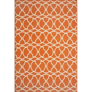 Moroccan Tile Orange Indoor/ Outdoor Rug (8'6 x 13')