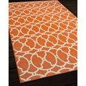 Moroccan Tile Orange Indoor/ Outdoor Rug (7'10 x 10'10)