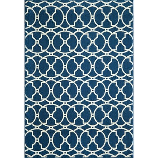 Moroccan Tile Navy Indoor/ Outdoor Rug (3'11 x 5'7)
