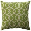 Pillow Perfect Lattice Damask Leaf 23-inch Decorative Pillow