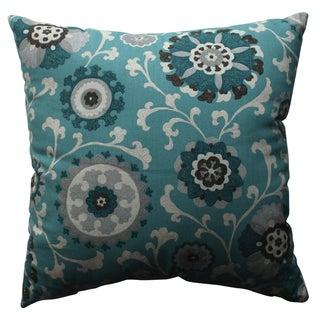 Pillow Perfect Suzani Teal 18-inch Throw Pillow