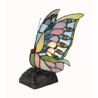 Tiffany-style Butterfly Design 1-light Indoor Night Light