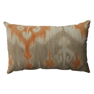 Pillow Perfect Marlena Ikat Orange Rectangular Throw Pillow