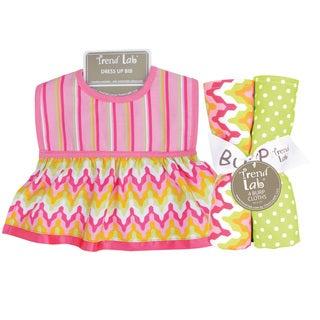 Trend Lab Savannah Dress Up Bib and 4-piece Burp Cloth Set