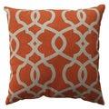 Pillow Perfect Lattice Damask Tangerine 16.5-inch Throw Pillow