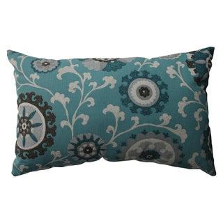 Pillow Perfect Suzani Teal Rectangular Throw Pillow