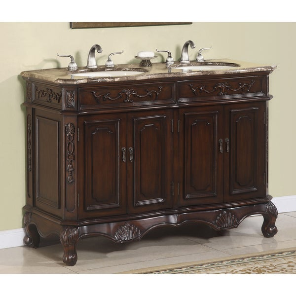 ica furniture hestia 50 inch marble top double vanity