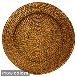 Round Rattan Charger Plate (Set of 4)