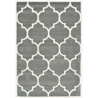 Safavieh Handmade Moroccan Dark-Gray Geometric Wool Rug (3' x 5')