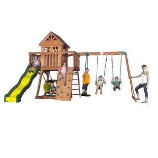 Backyard Discovery Cedar View Swingset