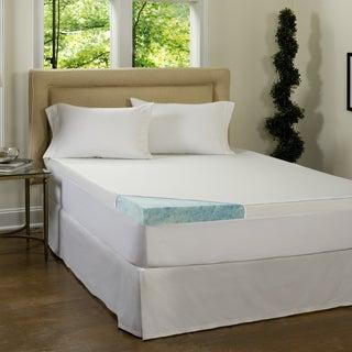 Beautyrest 4-inch Gel Memory Foam Mattress Topper with Waterproof Cover