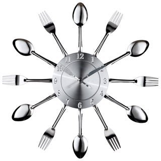 Fork Spoon Dining Wall Clock