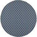 Safavieh Courtyard Navy/Beige Indoo/Outdoor Stain-Resistant Rug (6'7 Round)