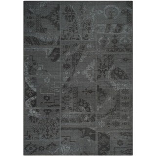 Safavieh Palazzo Black/ Grey Over-dyed Chenille Indoor Rug (8' x 11')