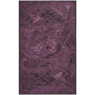 Safavieh Palazzo Black/ Purple Over-dyed Chenille Rug (4' x 6')