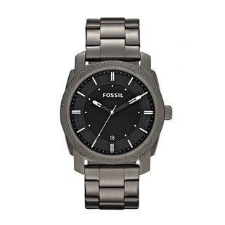 Fossil Men's FS4774 Machine Round Grey Bracelet Watch