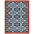 Handmade Flat-Weave Tribal Pattern Multicolored 100-percent Wool Rug (8' x 10')