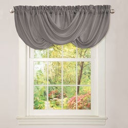 Lush Decor Lucia Grey Valance