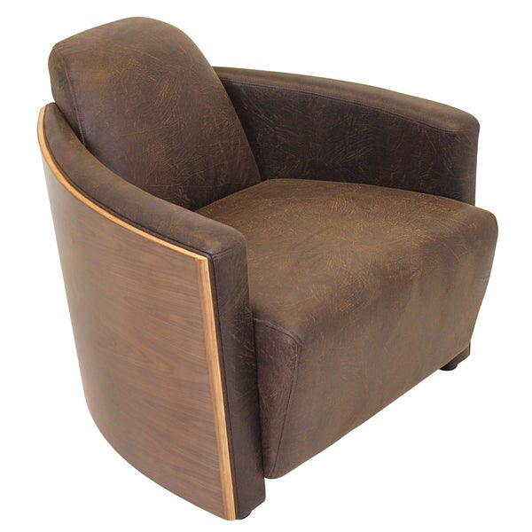 Humidor Bent Walnut Wood Accent Chair