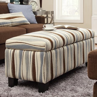 INSPIRE Q Sauganash Vertical Wavy Stripe Lift Top Storage Bench