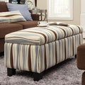 INSPIRE Q Sauganash Vertical Wavy Stripe Lift Top Storage Bench