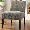 INSPIRE Q Peterson Blue Damask Slipper Chair