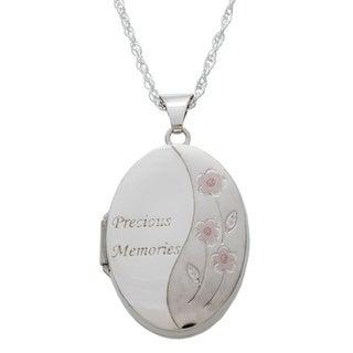 Sterling Silver 'Precious Memories' Locket Necklace