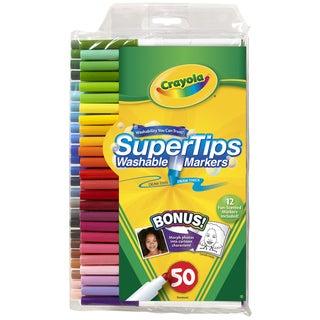 Crayola Super Tips Washable Markers-50/Pkg
