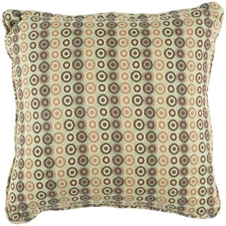 Beautiful Lucile Green Geometric Indoor/Outdoor Decorative Pillow