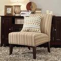 INSPIRE Q Peterson Mocha Brown Stripe Slipper Chair