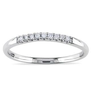 Miadora 14k White Gold Diamond Curved Wedding Band (G-H, I1-I2)