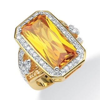 PalmBeach Canary Yellow/White Cubic Zirconia Ring Color Fun